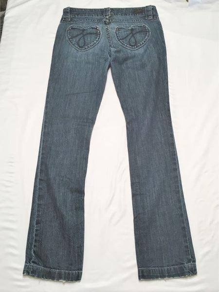 True Religion Size 6 Heart Pocket Blue Jeans