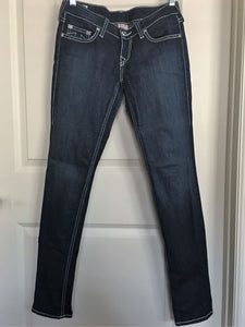 True Religion Size 4 Stella Mid Rise Skinny Blue Jeans
