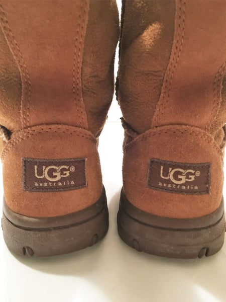 UGG Size 7 Ultimate Tan Suede Leather Boots