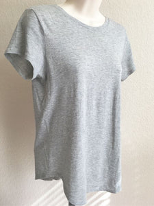 VINCE Size XS Gray Crew Neck Short Sleeve Tee