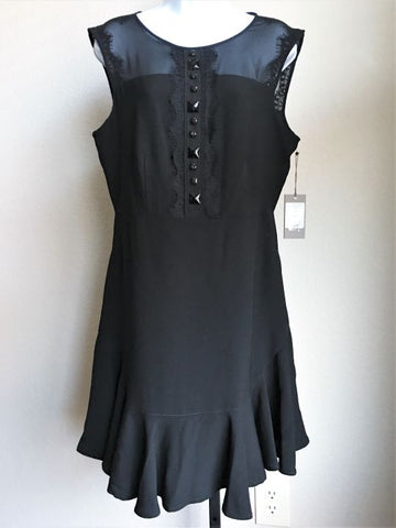 Vince Camuto Size 10 Lace and Bead Black Dress - NEW