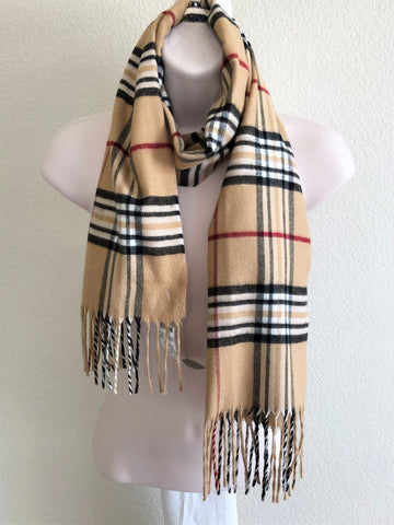 Scarf - Burberry Inspired Tan Plaid
