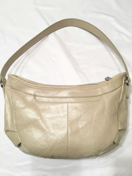 Hobo International Cream Leather Hobo Shoulder Bag