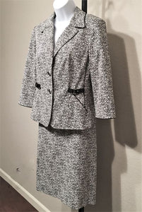 Etcetera Size 6 Black & White Pattern Skirt Suit