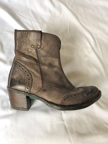 Kickers Size 6.5 Brown Ankle Boots