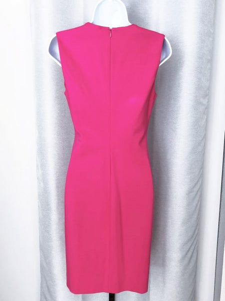Diane von Furstenberg Size 4 Hot Pink Dress