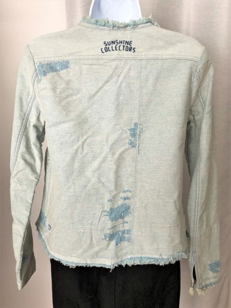 Maison Scotch SMALL Distressed Denim Jacket