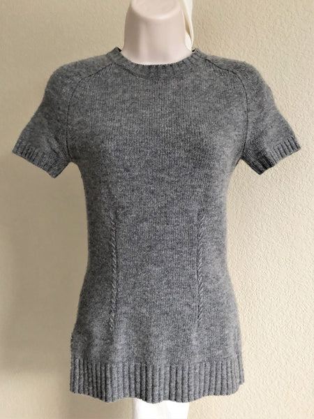 BCBGMaxazria Size XS Gray Back Zip Sweater