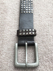 Belt - Joe's Jeans XS Black Leather Studded