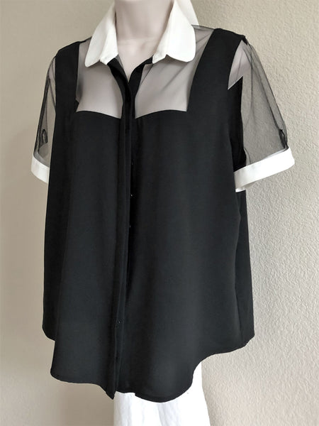 Anne Fontaine Size Large Black Top