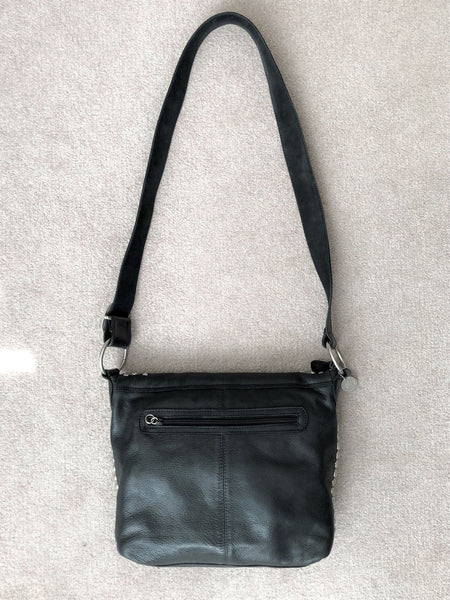 Leatherock Black Leather Crossbody