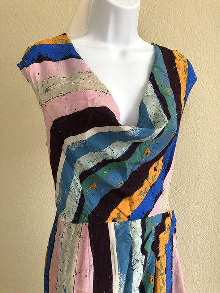 Plenty by Tracy Reese Size 12 Blue and Purple Dress