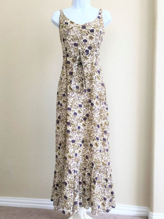 Odille Anthropologie Size 10 Cream Floral Maxi Dress