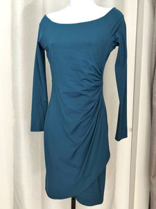 susana monaco Size Small Teal Ruched Dress - NEW