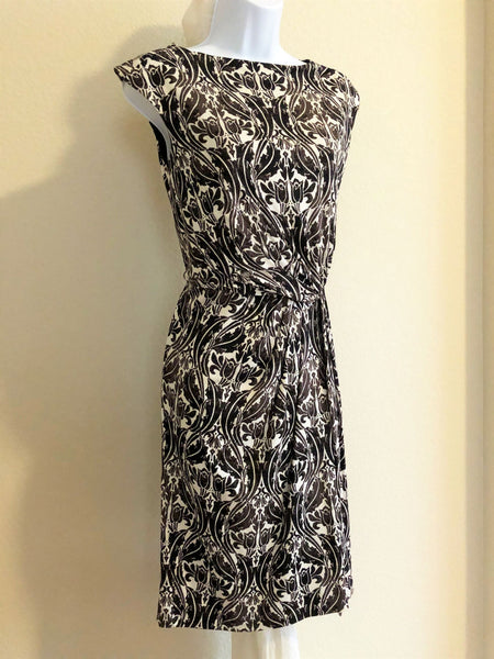 Tory Burch Size XS Brown Silk Wrap Dress
