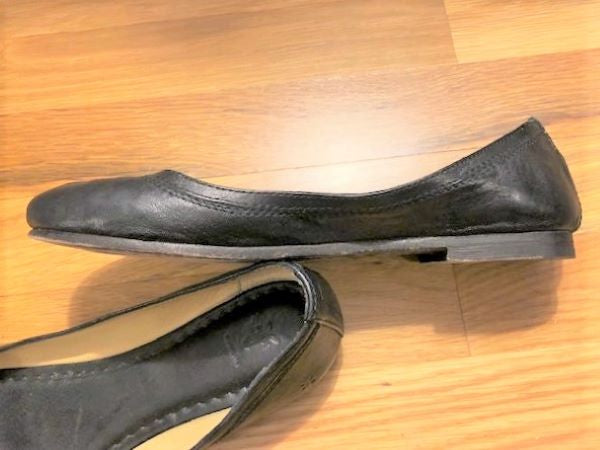 Frye Size 8  Black Leather Flats