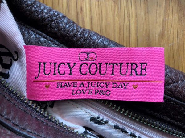 Juicy Couture Brown Leather Bag Silver Charms