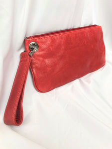 Hobo International Vida Red Leather Clutch
