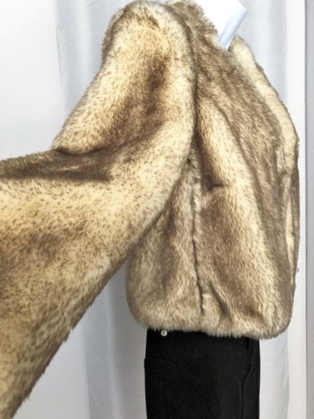 Idra for Anthropologie Size 12 Faux Fur Coat