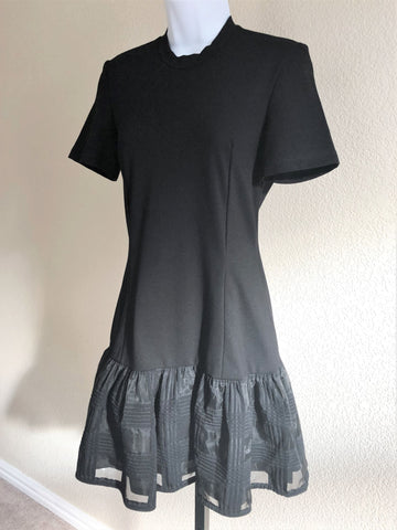 Markus Lupfer Size SMALL Black Drop Waist Dress