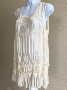 Theory Size Medium Ivory Silk Tank