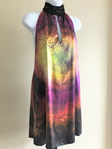 Single Dress MEDIUM Silk Watercolor Dress