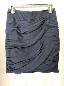 Anthropologie Size 2 Navy Ruched Layers Mini Skirt