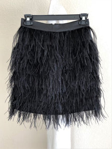 bebe Size 2 Black Feather Mini Skirt - NWT