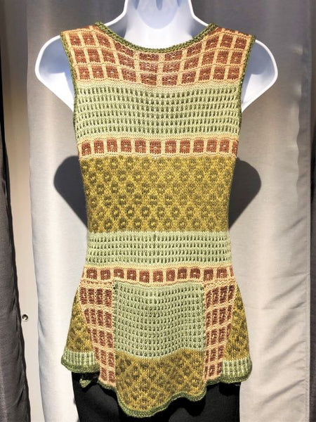 Anthropologie Size SMALL Green Sleeveless Knit Top
