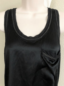 Theory Tops Size SMALL Black Chain Trim Tank - NEW