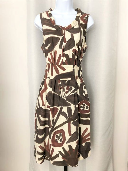 MaxMara Weekend LARGE Brown African Dress