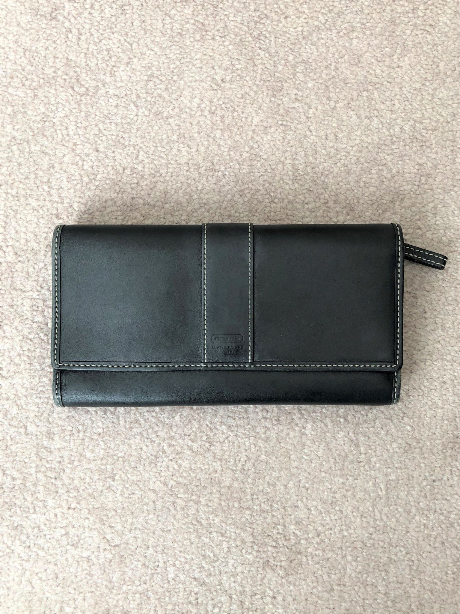 COACH Black Leather Wallet