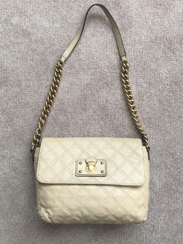 Marc Jacobs Beige Quilted Leather Bag