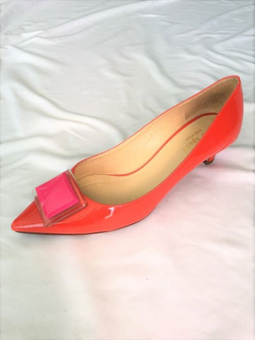 Kate Spade Size 7.5 Orange Patent Leather Pumps