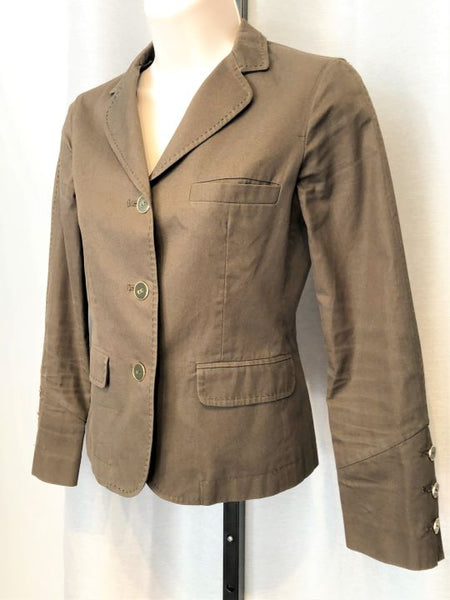 Joie Size XS Army Green Three Button Blazer