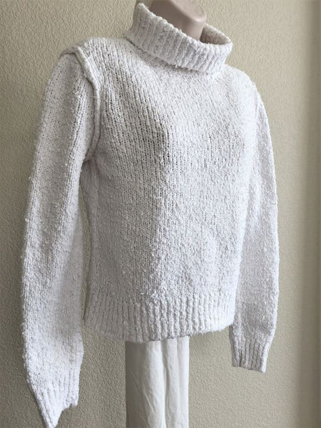 Rag & Bone Size Small White Turtleneck Sweater
