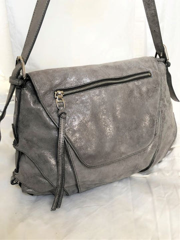 kooba silver leather crossbody bag