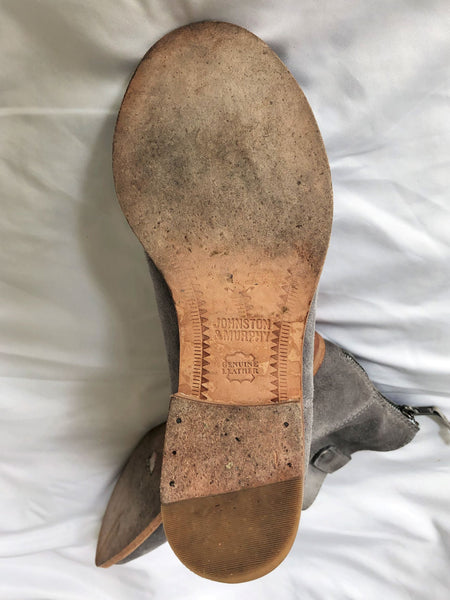 Johnston & Murphy Size 6.5 Gray Suede Boots