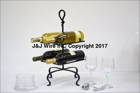 Signature Hand-Forged Knot Series Four Bottle Wine Rack 3066
