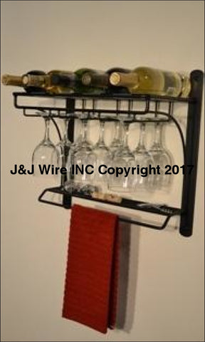 Steele Canyon Wall Mount Wine Bar Rack 4165