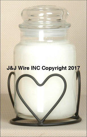 Triple Heart Round Jar Candle Holder 718