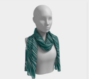 Turquoise/Teal Waves Scarf
