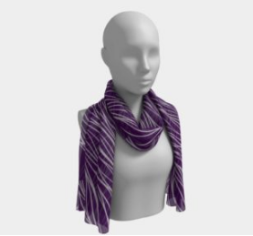 Purple and Silver Waves Scarf