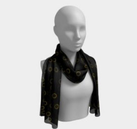 Black and Gold Dots Scarf