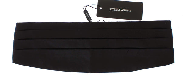 Latest fashion | Black Wide Belt Silk Cummerbund
