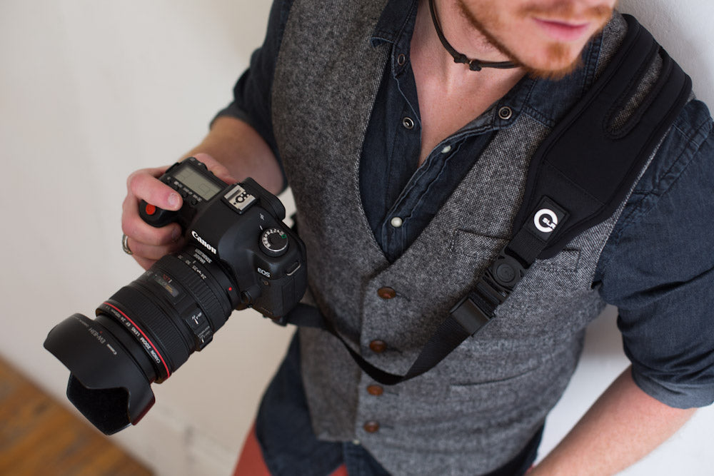 Closeup of Glide One Camera Strap
