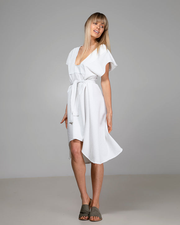 NAOMI DRESS WHITE STRIPE