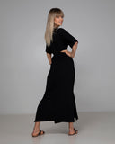 ORGANIC BAMBOO TASH DRESS BLACK