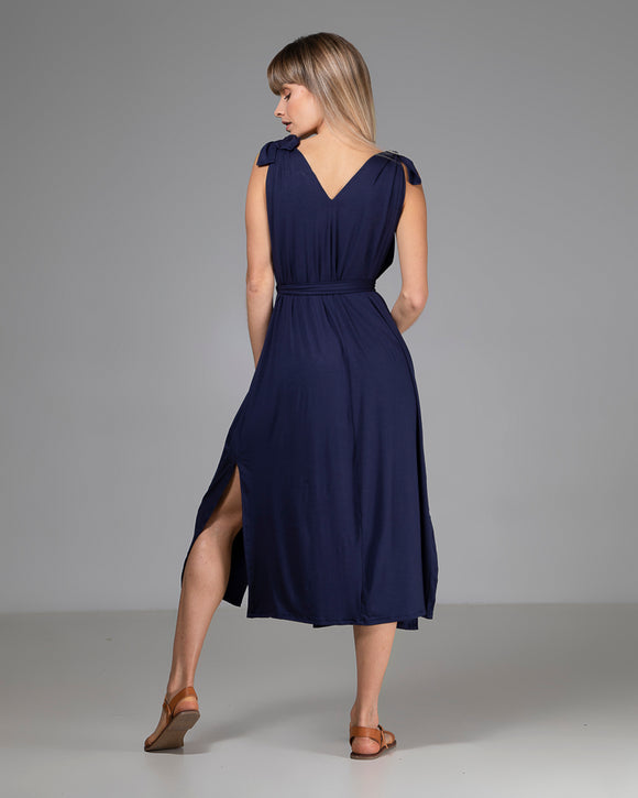 ORGANIC BAMBOO VICKY DRESS NAVY