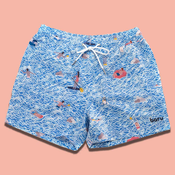 Sea Foam Swim Shorts